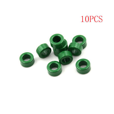 10Pcs Inductor Coils Green Toroid Ferrite Cores Anti-interference 10x6x5mm AU.-