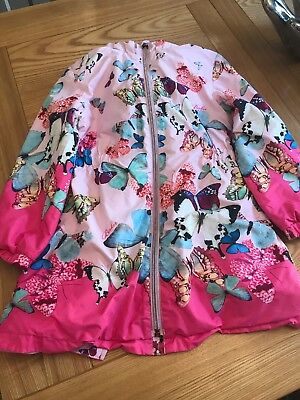 Ted Baker Girls Pink Butterfly Coat Age 5-6