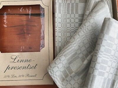 Vintage, Large, Never Used Table Cloth from Lithuania - 50% Flax & 50% Cotton
