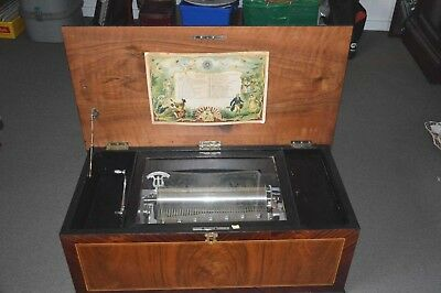 Large Antique Music Box.
