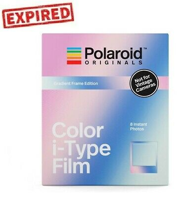 EXPIRED Polaroid Originals GRADIENT Frame Color Instant Film for i-Type OneStep2