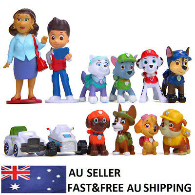 Paw Patrol Ryder Pups Vehicles Action Figure Doll Toy Kid Gift Cake Topper 12PCS