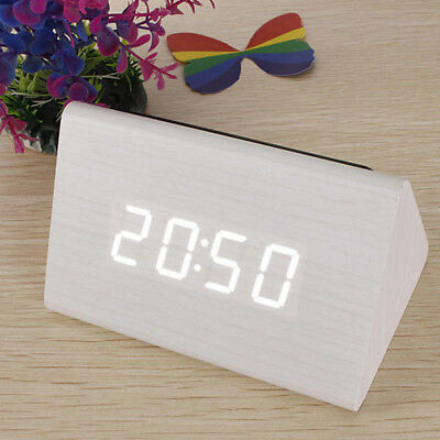 1PC Electronic Digital Wood LED Alarm Clock+1 PC USB Cable or Battery Operated