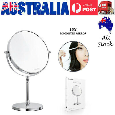 8 inch Double Side 10x Magnifying Makeup Mirror for Cosmetic Shaving Bathroom