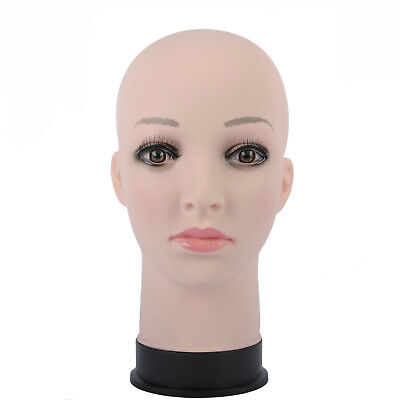 """GEX Mannequin Head Stand Female Makeup Display Model Rubber Head Wig Making 11"""""""