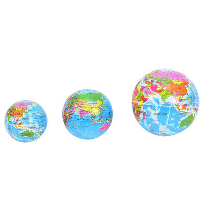 Stress Relief Vent Ball World Map Squeeze Hand Wrist Exercise Geograpy  SRAU