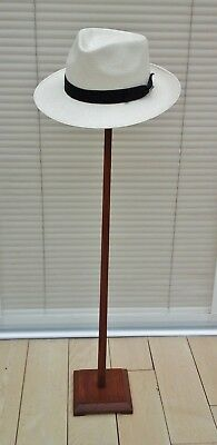 "Vintage Art Deco Tall 38"" Wooden Hat Display Stand, Millinery Shop Display."