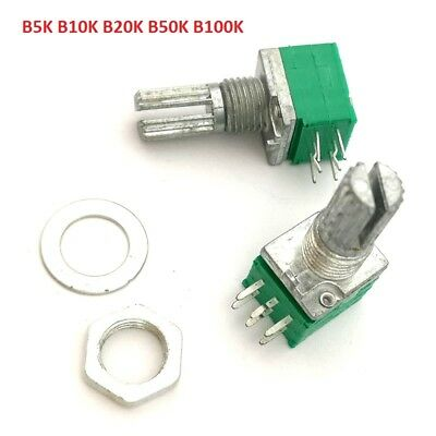 Stereo POT Lin Linear Potentiometer B5K B10K B20K B50K-100K 15mm Audio Amplifier