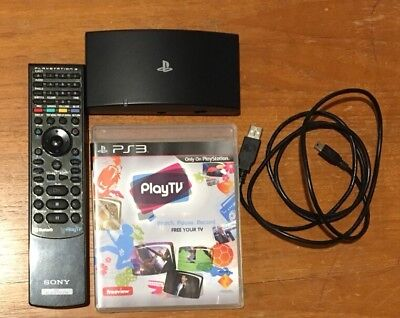 PlayTV For PS3 Includes Disc, Tuner, Cable And Remote