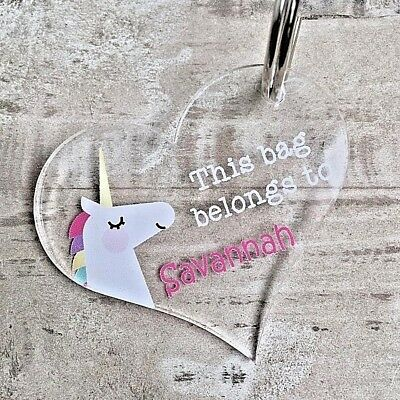 Personalised Unicorn Bag Tag/Key Ring