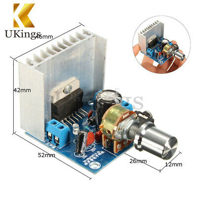 AC/DC 12V TDA7297 2x15W Digital Audio Amplifier DIY Kit Dual-Channel Module K