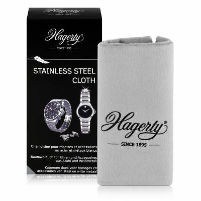 Hagerty Stainless Steel Metal Cleaning Cloth Restore Shine Watch Jewel 30 x 36cm