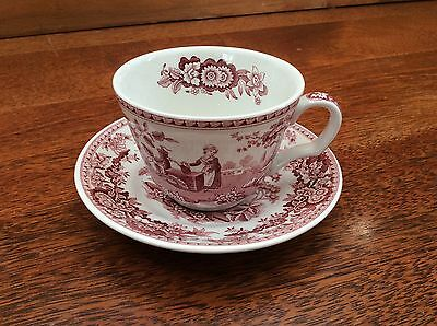 SPODE Archive Collection - Georgian Series - GIRL AT WELL Cup & Saucer. England