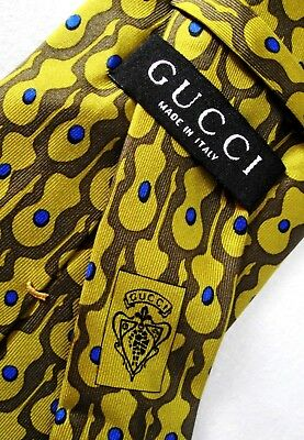 CRAVATTA UOMO (TIE)  vintage  GUCCI made in Italy  New!  rare