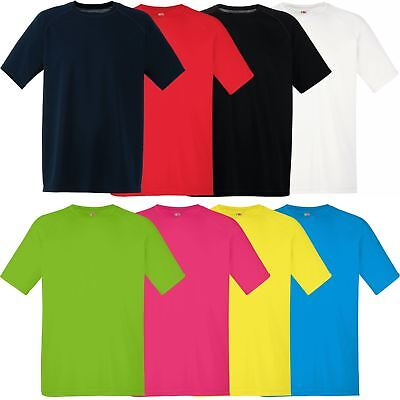 Mens Fruit of the Loom Performance T Shirt Moisture Wicking Breathable Sport Top