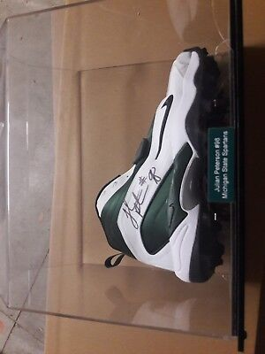 Julian peterson autographed clete Michigan state spartans.   With case