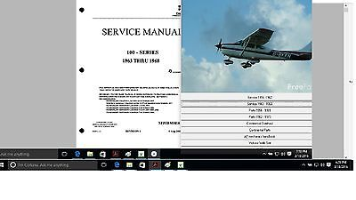 CESSNA 180 SERVICE maintenance parts n engine manual Library