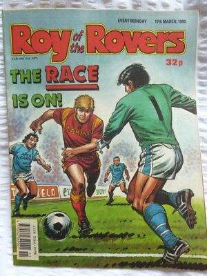 Roy of the Rovers Comic 17 03 1990 Exc