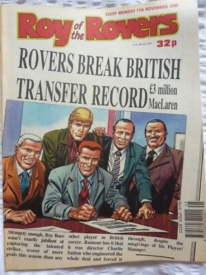 Roy of the Rovers Comic 11 11 1989