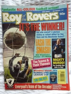Roy of the Rovers Comic 16 02 1991 Exc Condition