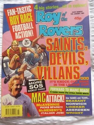 Roy of the Rovers Comic 19 01 1991 Exc Condition.