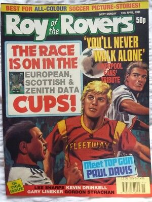 Roy of the Rovers Comic 13 04 1991 Exc Condition