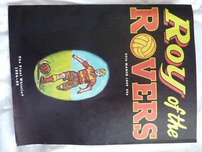 """Roy of the Rovers Comic 20 03 1993 """"The final Whistle"""" VG+++"""