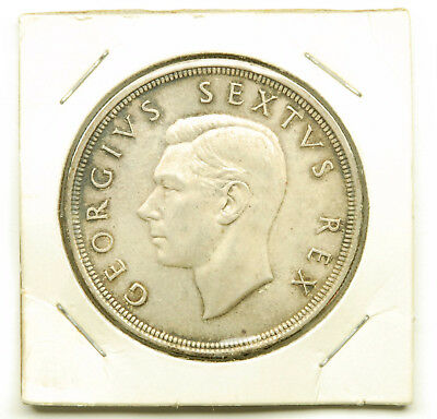 1949 South Africa 5 Shilling Coin; 80% Silver