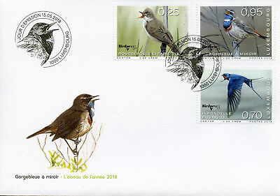 Luxembourg 2018 FDC Rare Birds Birdpex 3v Cover Warblers Swallows Bird Stamps