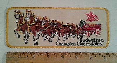 Vintage Budweiser Champion Clydesdales Patch Beer Advertising