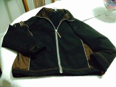 Woman's Size 12 Ford Territory Black Jacket with detachable hood - pre loved