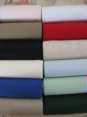 Sajou 14 Count (5.5 holes per cm) Aida Fabric- 12 Colours