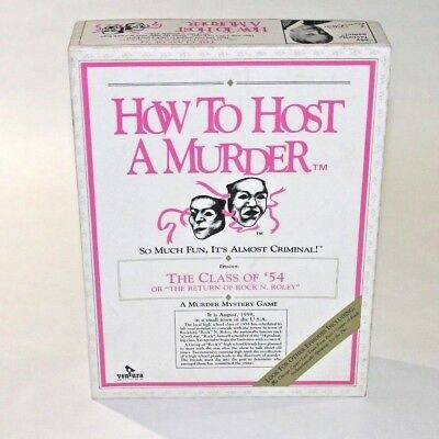 """How To Host A Murder """"The Class Of '54"""" (1986) Dinner Party Game"""