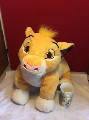 Disney Store Lion King SIMBA Large Plush Soft Toy