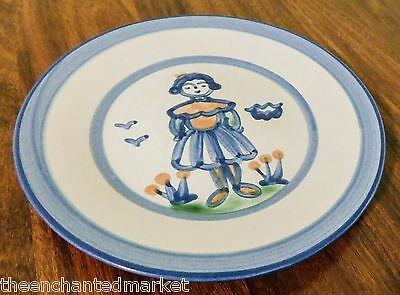 "M A Hadley Pottery 9"" Luncheon Plate ~ Wife ~ Country Farm"