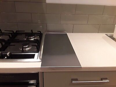 Stainless Steel Kitchen Worktop Protectors 430 brushed  580x240mm