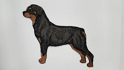 "Rottweiler Dog Embroidered Patch Approx Size 5.5"" x 6.4"""