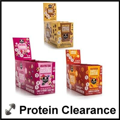 Dr Zak's Protein Clusters Bar 12 x 30g Low Cal Sugar 10g Protein BBE April 2018