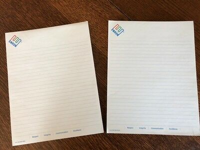 "NEW Full Pad of Enron Logo Lined Notepad  8 1/2"" x 7 1/4""  Energy Company Swag"