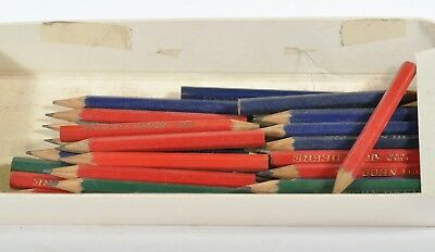 VINTAGE John Deere WOOD PENCILS LARGE GROUP BULLET ADVERTISING PENCIL