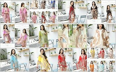 US SELLER-wholesale 50 Beach Cover up Tunic Top Scarf Wrap Poncho Women Summer