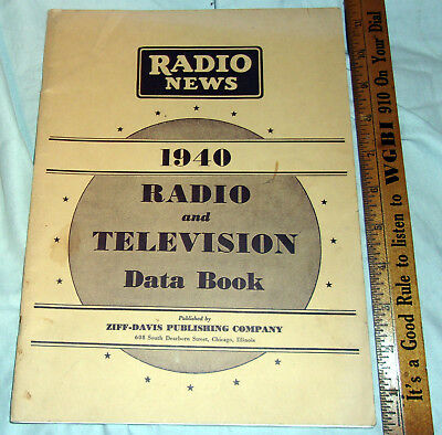 Radio News 1940 Radio & TV DATA Book Nice! LQQK!