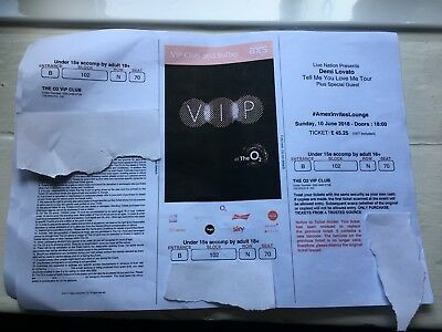 Three Demi Lovato Ticket, 25th June, O2 London