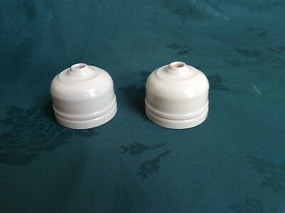 2 genuine vintage Ceramic Crabtree ceiling light roses