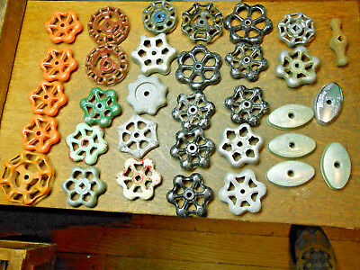 33 Misc. Water Valve Handles Steampunk Industrial Art Colorful