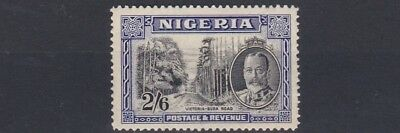 Nigeria  1936     S G  42   2/6D   Black & Ultramarine   Mnh  Lightly  Toned