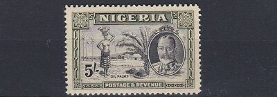 Nigeria  1936  S G 43  5/- Black & Green  Mnh
