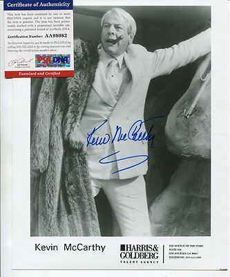 body snatchers KEVIN MCCARHTY autograph HAND SIGNED with PSA DNA COA  SB3115