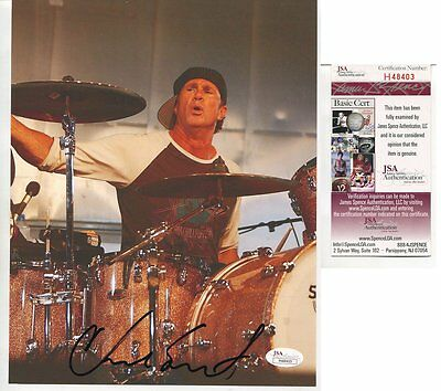 red hot chili peppers CHAD SMITH autograph HAND SIGNED with PSA DNA COA  SB3123
