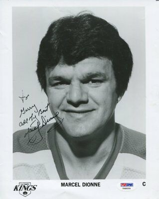 LOS ANGELES KING nhl MARCEL DIONNE autograph HAND SIGNED with PSA DNA  COA 135
